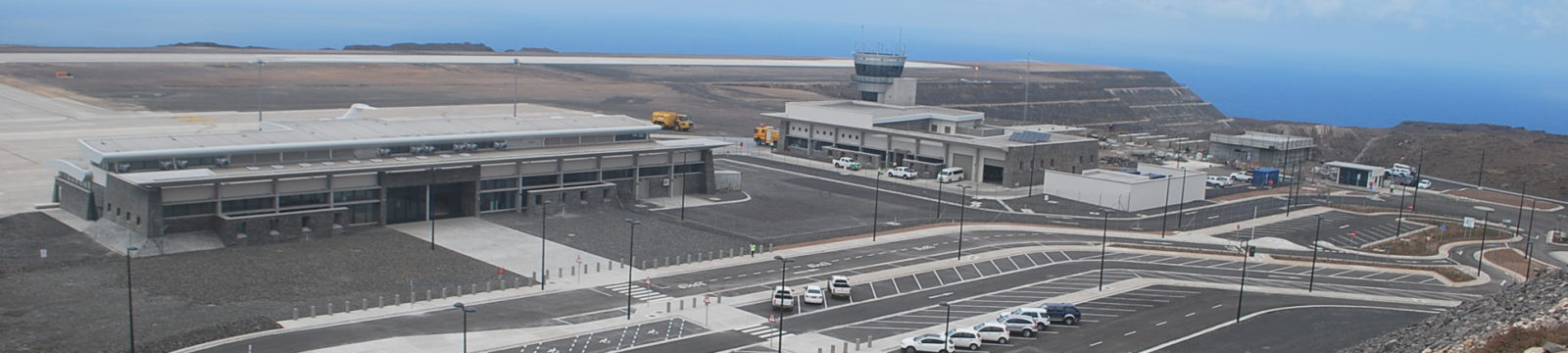 Photo of the car park at St Helena Airport