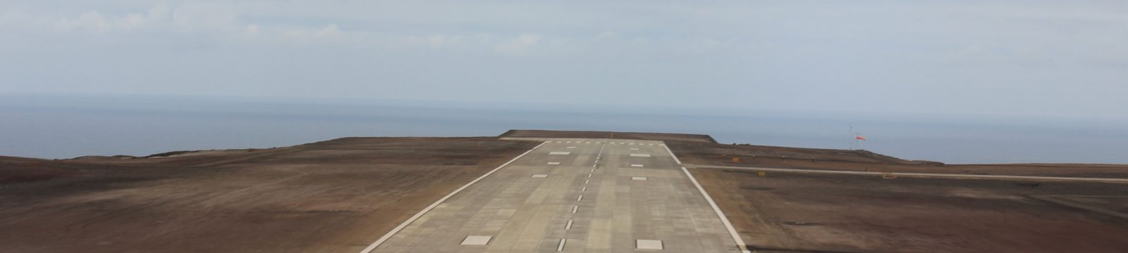 Photo of the runway at St Helena Airport looking south