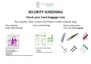Items to be removed prior to security screening poster