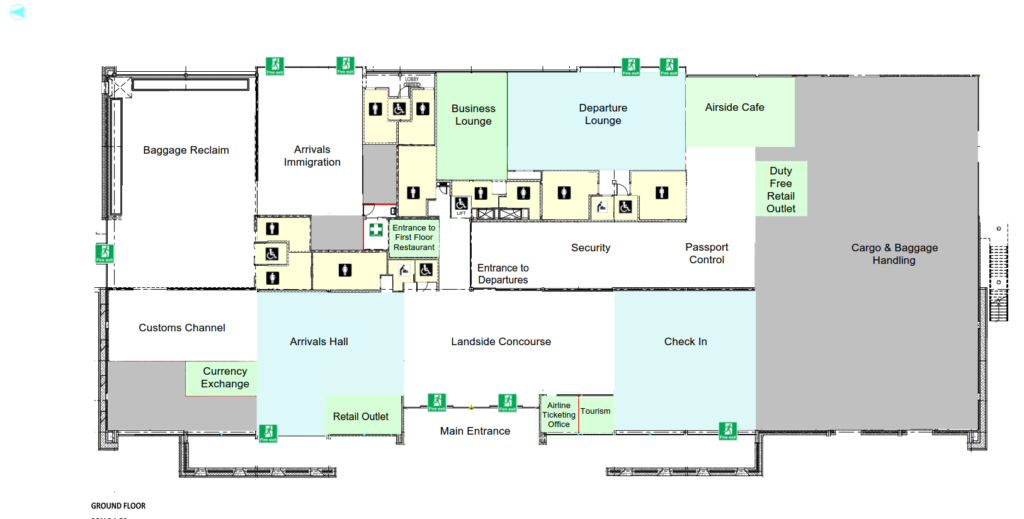 Terminal Building Ground Floor Map