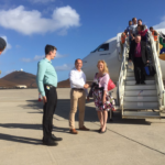FIrst Airlink Flight to Ascension Island