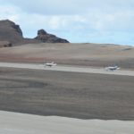 Two Daher TBMs taxiing along the runway at St Helena Airport in readiness for departure