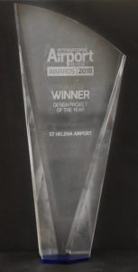 Photo of Design Project of the Year award - etched glass tapering to the base