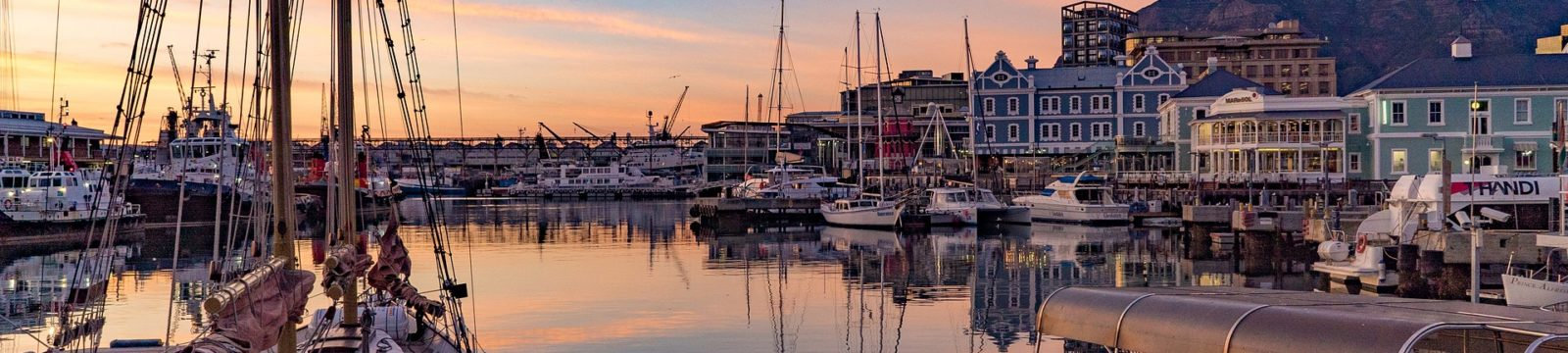 Photo of Cape Town harbour at dusk