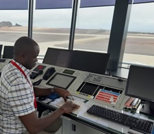 Senior Air Traffic controller in the Tower at St Helena Airport