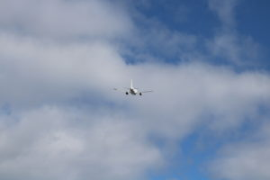 Titan Airbus A318 airborne at St Helena Airport