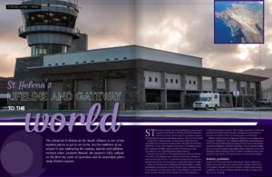 Image of the first two pages of the article in the inside aviation magazine
